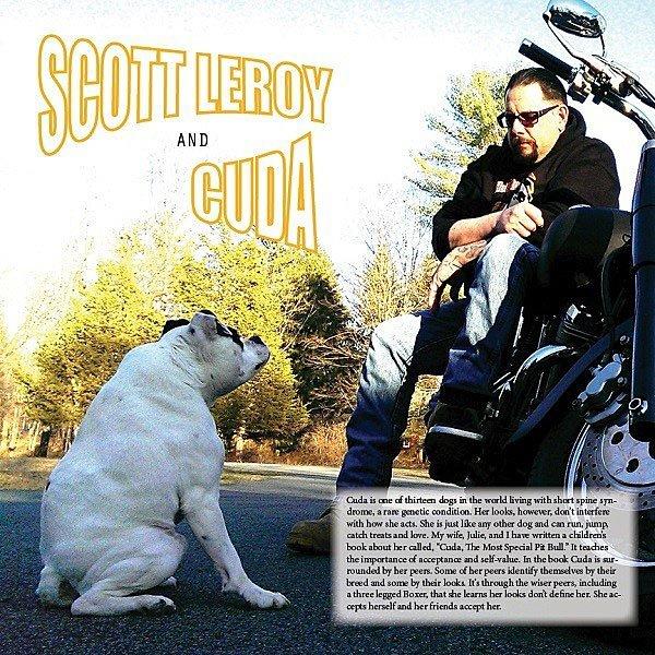 Scott LeRoy y su perra Cuda